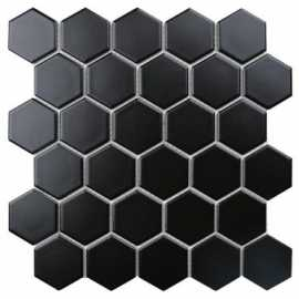 Мозаика Hexagon small Black Matt (IDL4810) 27.2x28.2 от StarMosaic (Китай)