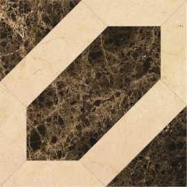 Мрамор PJG-SWPZ009 09 Modern Magic Tile (Emperador) 60x60x1.2 от Marmocer (Китай)