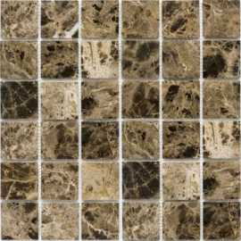Мозаика Dark Emperador Polished (48x48 (JMST055)) 30.5x30.5 от StarMosaic (Китай)
