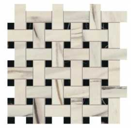 Мозаика Marvel Dream Bianco F. Basket Weave Matt (AOVJ) 30.5x30.5 от Atlas Concorde (Италия)